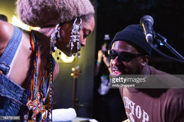 Erykah Badu and Robert Glasper of the Robert Glasper Experiment perform on stage at Sonos Studio during Day 4 of SXSW 2013 Music Festival on March 15...