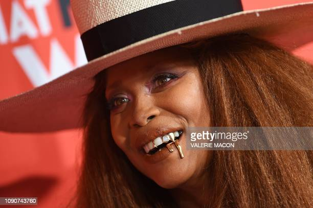 Erykah Badu arrives for the US premiere of What Men Want at the Regency Village theatre on January 28 2019 in Westwood California