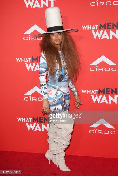 Erykah Badu attends Paramount Pictures' What Men Want Premiere at Regency Village Theatre on January 28 2019 in Westwood California