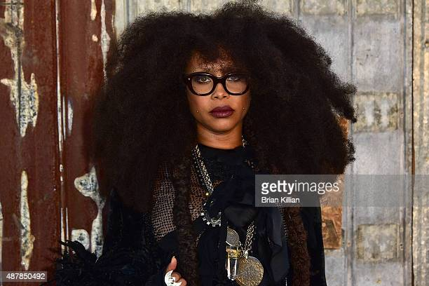 Erykah Badu attends the Givenchy show during Spring 2016 New York Fashion Week at Pier 26 on September 11 2015 in New York City