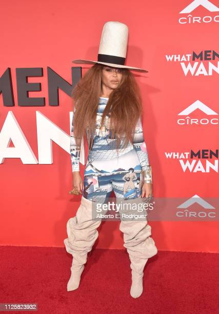 Erykah Badu attends the premiere of Paramount Pictures and BET Films' What Men Want at Regency Village Theatre on January 28 2019 in Westwood...