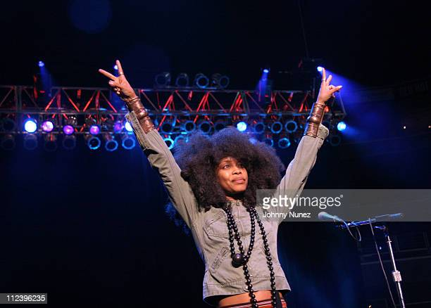 """Erykah Badu during Millions More Movement """"We Are Family"""" Grand Finale Concert - Show at MCI Center in Washington, D.C., United States."""