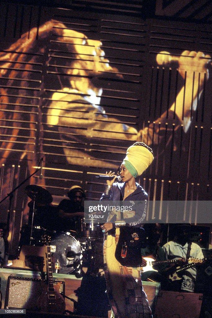 Erykah Badu during TNT Bob Marley All Star Tribute at James Bond Beach in Oracabeca Beach, Jamaica, Jamaica.