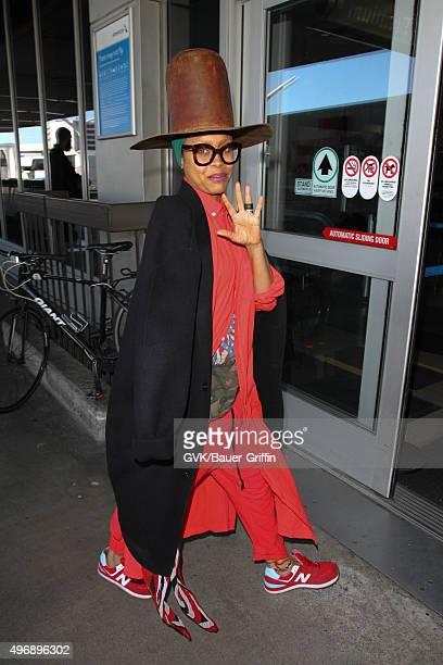 Erykah Badu is seen at LAX on November 12 2015 in Los Angeles California