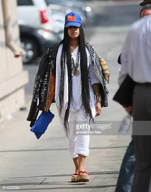 Erykah Badu is seen on October 12 2016 at Jimmy Kimmel Live in Los Angeles California
