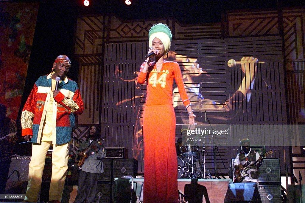 Erykah Badu & Jimmy Cliff during One Love-The Bob Marley Tribute in Oracabessa Beach, Jamaica.
