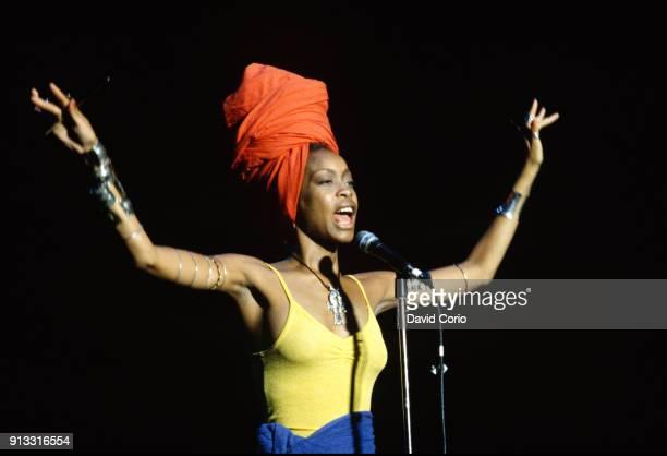 Erykah Badu performing at Jones Beach Long Island New York on July 5 1997