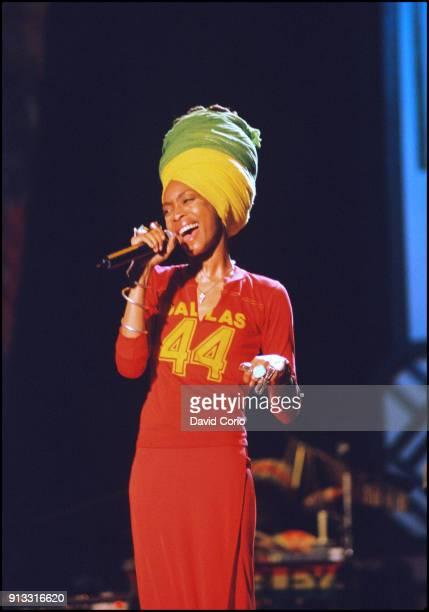 Erykah Badu performing at One Love Bob Marley Festival Oracabessa, Jamaica December 4 1999.