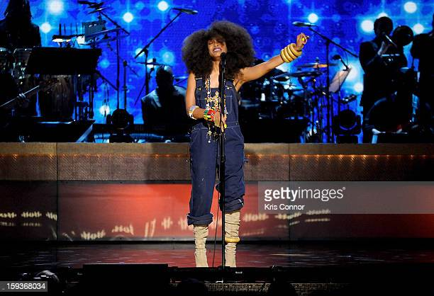 Erykah Badu performs at BET Honors 2013 at Warner Theatre on January 12 2013 in Washington DC