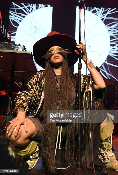 Erykah Badu performs at The Warfield on November 15 2016 in San Francisco California