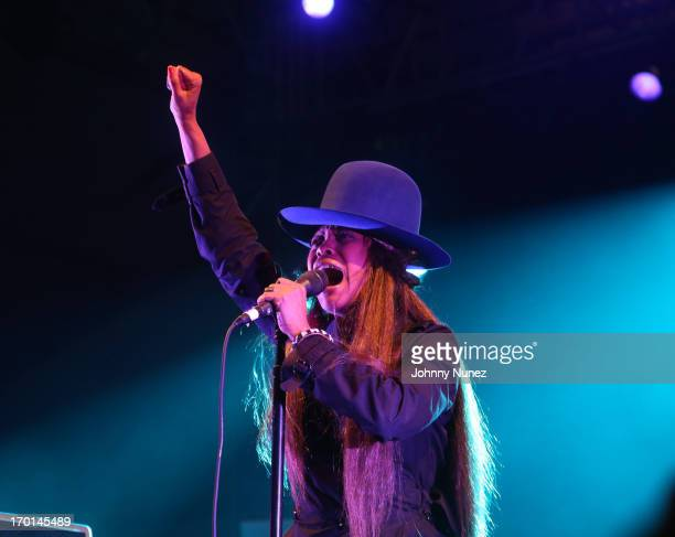 Erykah Badu performs during 2013 Governors Ball Music Festival at Randall's Island on June 7 2013 in New York City