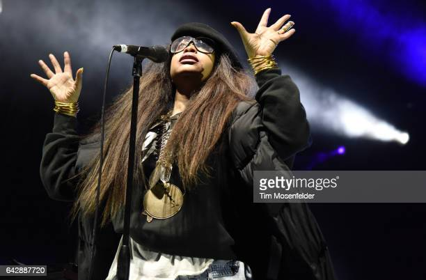 Erykah Badu performs during Soulquarius 2017 at The Observatory on February 18 2017 in Santa Ana California