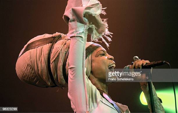 Erykah Badu performs live on stage at the North Sea Jazz Festival in The Hague, Holland on July 15 2002