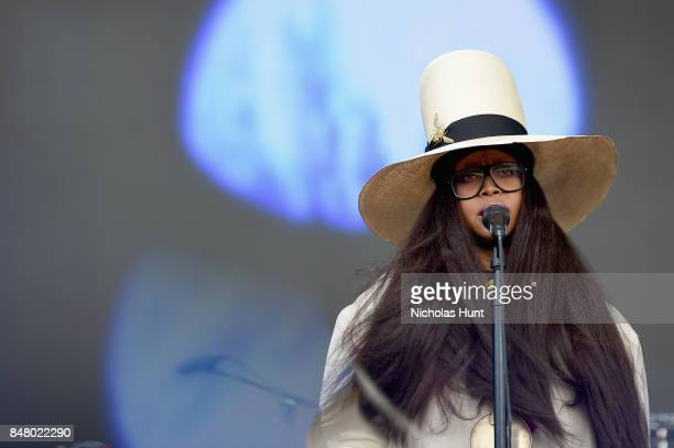 Erykah Badu performs onstage during the Meadows Music and Arts Festival Day 2 at Citi Field on September 16 2017 in New York City