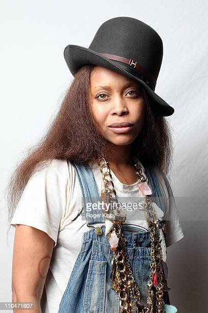 Erykah Badu poses for a portrait backstage at the Fader Fort by Fiat during the 2011 SXSW Music Festival on March 18 2011 in Austin Texas