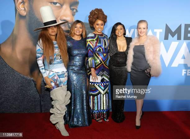 "Erykah Badu, Tamala Jones, Phoebe Robinson, Taraji P. Henson and Wendi McLendon-Covey attend the U.S. Premiere of ""What Men Want"" in partnership with..."