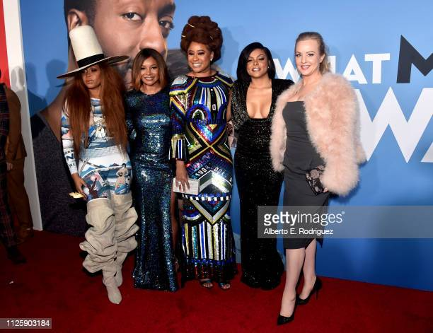 """Erykah Badu, Tamala Jones, Phoebe Robinson, Taraji P. Henson and Wendy McClendon-Covey attend the premiere of Paramount Pictures and BET Films' """"What..."""