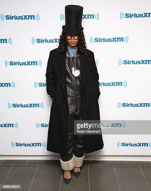 Erykah Badu visits at SiriusXM Studios on November 20 2015 in New York City