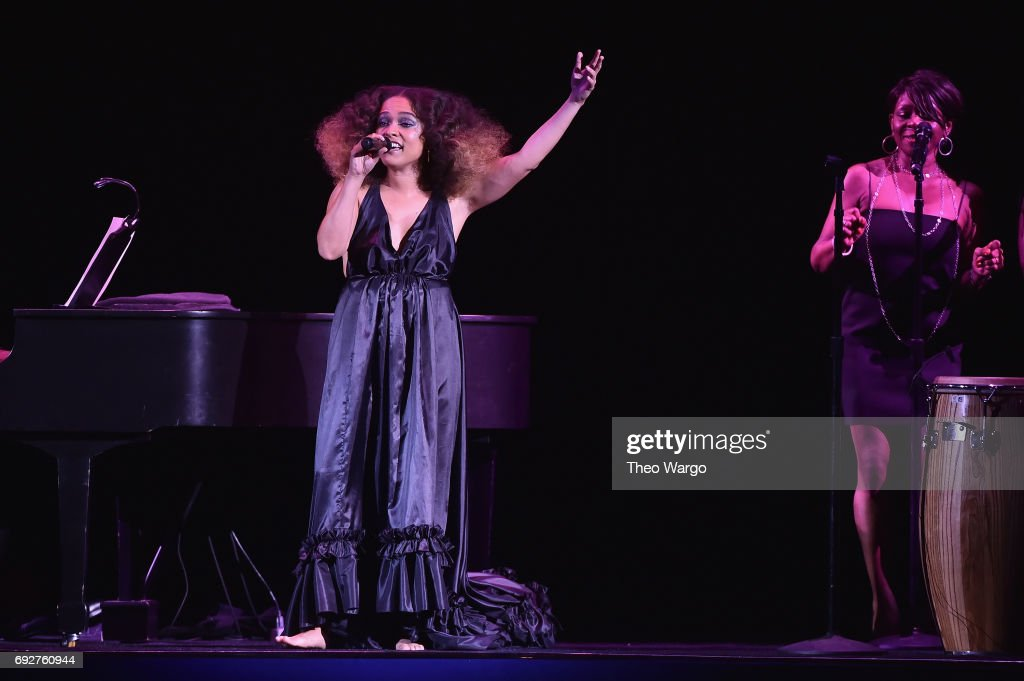 Eryn Allen Kane performs onstage during the 2017 CFDA Fashion Awards at Hammerstein Ballroom on June 5, 2017 in New York City.