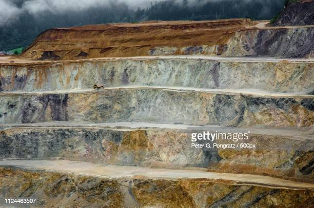 erzberg ii - rock strata stock pictures, royalty-free photos & images
