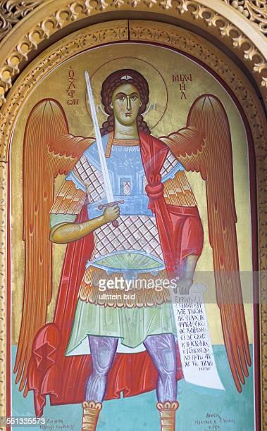 Erzengel Michael Ikone im St StephanusKloster Jerusalem