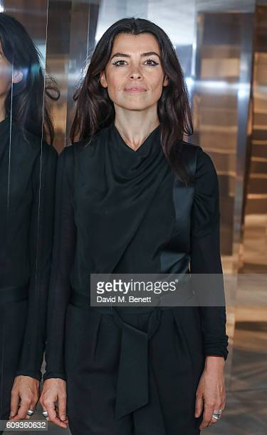 Es Devlin attends a Private View iD And CHANEL Present The Fifth Sense Mirror Maze By Es Devlin on September 20 2016 in London United Kingdom