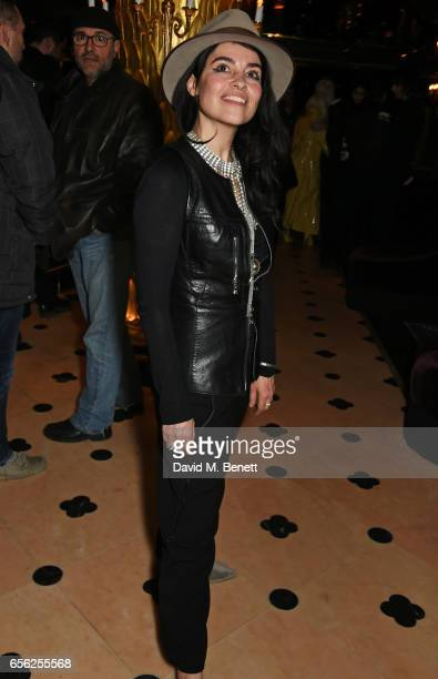 Es Devlin attends the Another Man Spring/Summer Issue launch dinner in association with Kronaby at Park Chinois on March 21 2017 in London England