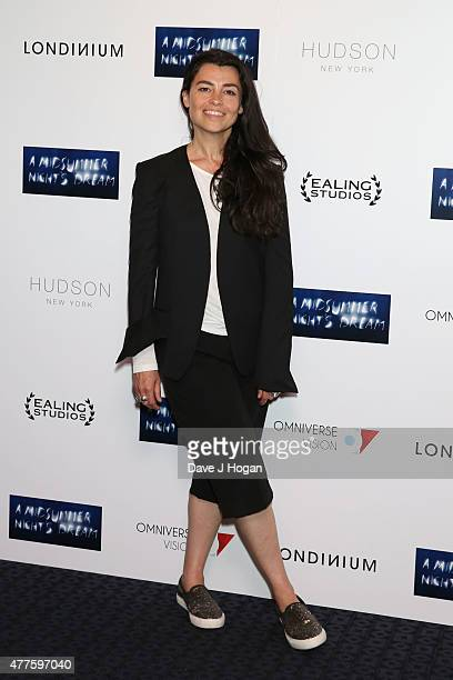 Es Devlin attends the UK Premiere of Julie Taymor's 'A Midsummer Night's Dream' at The Curzon Mayfair on June 18 2015 in London England