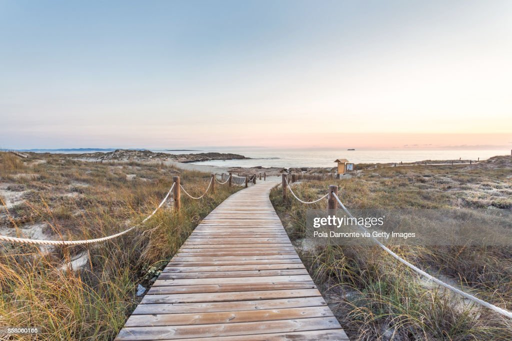 Es Pujols beach in Formentera at dawn Balearic Islands, Spain : ストックフォト