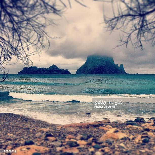 Es Vedra islet from Cala D´Hort beach. Ibiza