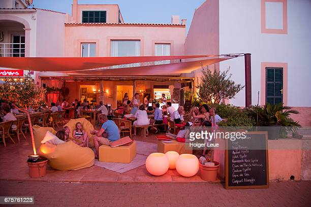 Es Vivers lounge outdoor seating at dusk