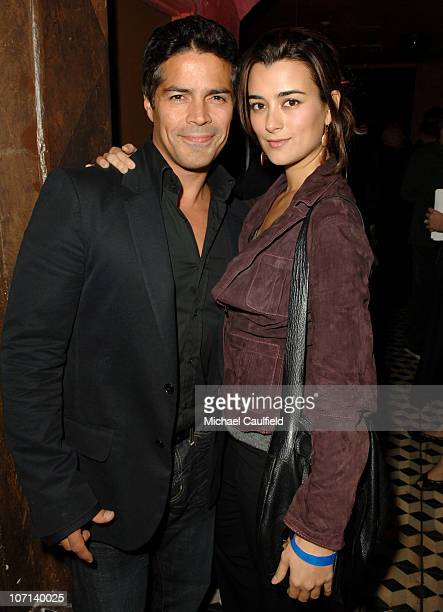 Esai Morales and Cote de Pablo during Global Green USA 3rd Annual Pre-Oscar Celebration to Benefit Global Warming - Inside at Avalon in Hollywood,...