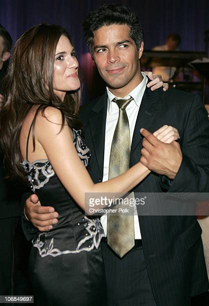 Esai Morales and guest during Instyle/Warner Bros Golden Globe Awards Post Party Inside at Beverly Hills Hilton in Beverly Hills California United...