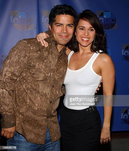Esai Morales and Jacqueline Obradors during ABC AllStar Party at Astra West in West Hollywood California United States