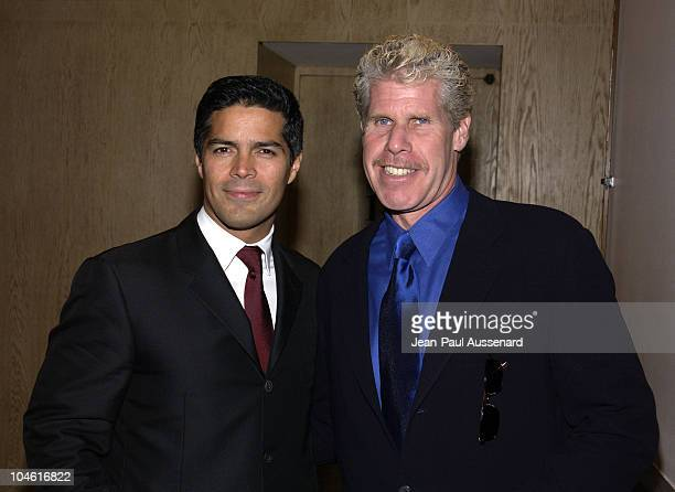 Esai Morales and Ron Perlman during 1st Annual American Heart Awards Paint The Town Red Gala to Benefit The American Heart Association at Beverly...