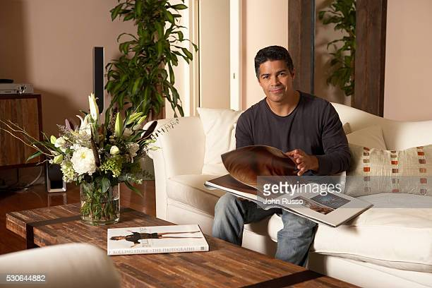 Esai Morales At Home