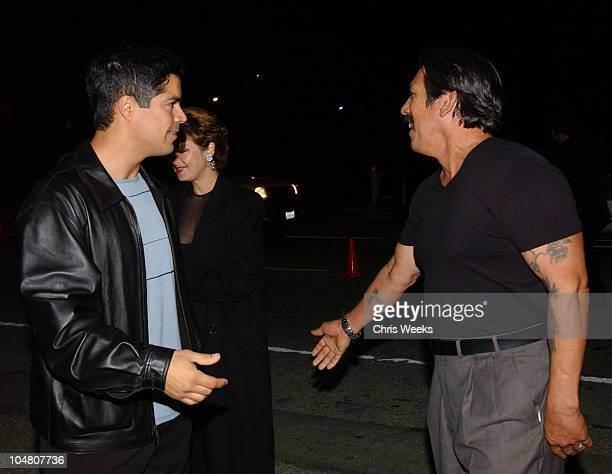 Esai Morales Danny Trejo during 'Resurrection Blvd' Celebrates its 3rd Season Hosted by Hennessy Cognac with a $10000 Donation to AIDS Charity Las...