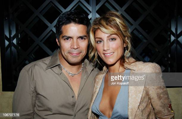Esai Morales Jennifer Esposito during Grand ReOpening of Le Dome at Le Dome Restaurant in West Hollywood California United States