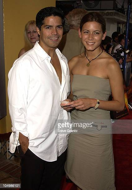 Esai Morales Nathalie Fay during Reign of Fire Premiere at Mann's Village in Westwood California United States