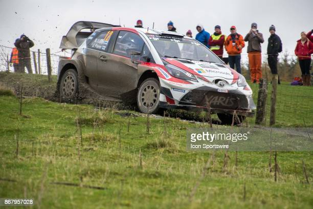 Esapekka Lappi and codriver Janne Ferm of Toyota Gazoo Racing compete during the Lake Brenig stage of the Rally GB round of the 2017 FIA World Rally...