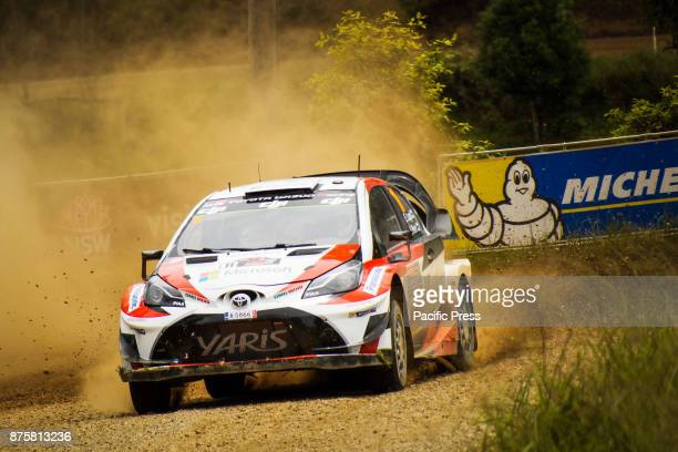 Esapekka Lappi and codriver Janne Ferm of Toyota Gazoo Racing compete in the Argents section on day two of the Rally Australia round of the 2017 FIA...