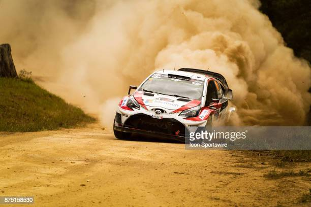 Esapekka Lappi and codriver Janne Ferm of Toyota Gazoo Racing corners during the Shakedown stage of the Rally Australia round of the 2017 FIA World...