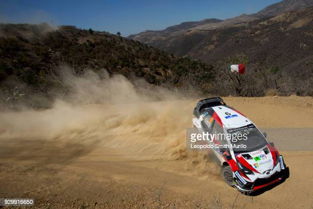 Esapekka LAPPI and Janne FERM of Toyota Gazoo Racing WRT Team drive during the day two of the FIA World Rally Championship Mexico 2018 on March 9...