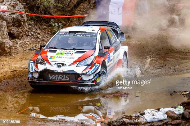 Esapekka Lappi and Janne Ferm of Toyota Gazzo Racing WRT drive during the Shakedown as a part of Day One of the FIA World Rally Championship Mexico...