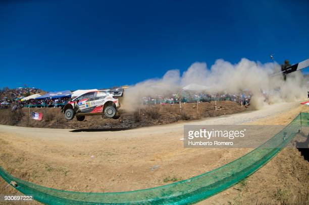 Esapekka Lappi and Janne Ferm of Toyota Gazzo Racing WRT Team drive at El Brinco during the day two of the FIA World Rally Championship Mexico 2018...