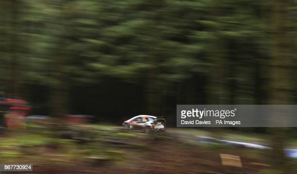 Esapekka Lappi in the Toyota Gazoo Racing WRT during day four of the Dayinsure Wales Rally GB