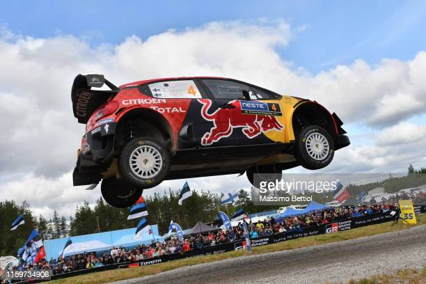 JYVASKYLA FINLAND AUGUST Esapekka Lappi of Finland and Janne Ferm of Finland compete in their Citroen Total WRT Ctroen C3 WRC during Day Three of the...