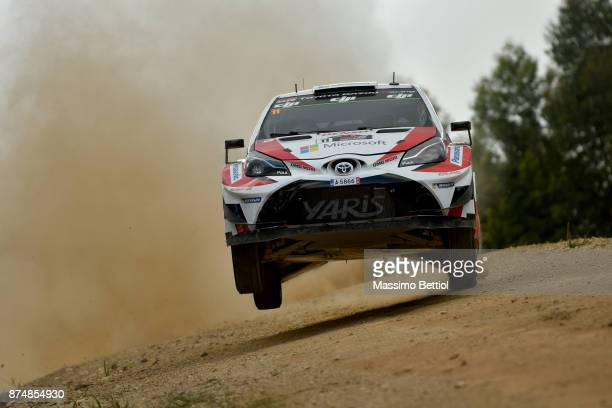 Esapekka Lappi of Finland and Janne Ferm of Finland compete in their Toyota Gazoo Racing WRT Toyota Yaris WRC during the Shakedown of the WRC...