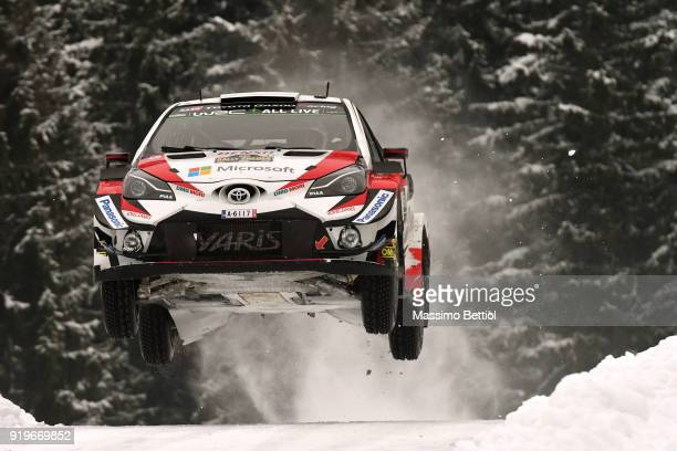 KARLSTAD SWEDEN FEBRUARY Esapekka Lappi of Finland and Janne Ferm of Finland compete in their Toyota Gazoo Racing WRT Toyota Yaris WRC during Day Two...