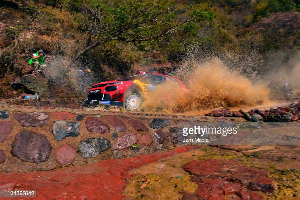 Esapekka Lappi of Finland and Janne Ferm of Finland compete with their Citroen Total WRT during the FIA World Rally Championship Guanajuato Mexico...
